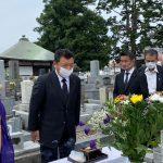 古賀俊昭先生の墓参